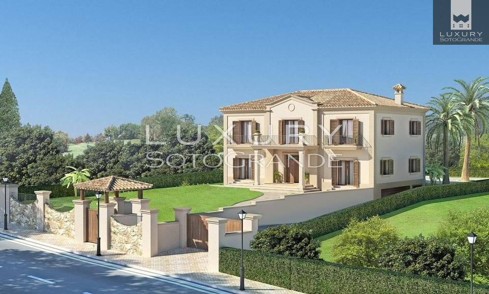 Fantastic plot with Architect Ark project plan for sale in Sotogrande